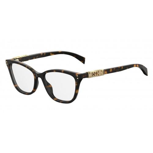 MOSCHINO Oprawa okularowa damska MOS500 086 - brązowy