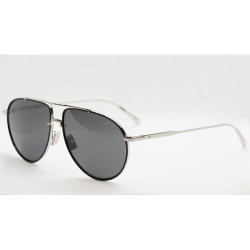 DIOR Okulary przeciwsłoneczne damskie/męskie DiorBlacksuit AU- srebrny, czarny, filtr UV 400