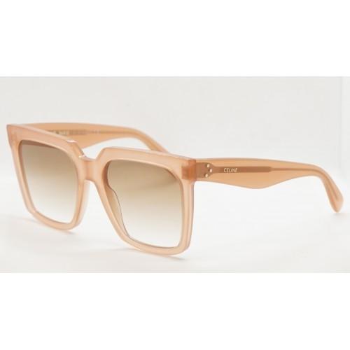 Celine Okulary przeciwsłoneczne damskie CL4055IN 72F - brzoskwiniowy, transparentny, filtr UV 400