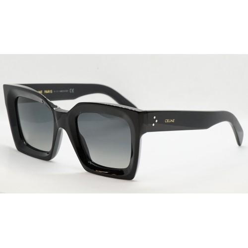 Celine Okulary przeciwsłoneczne damskie CL40130I 01D - czarny, filtr UV 400