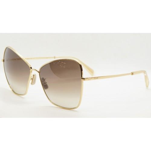 Celine Okulary przeciwsłoneczne damskie CL40080U 30F - złoty, filtr UV 400
