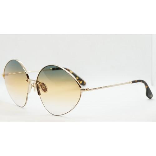 Victoria Beckham Okulary przeciwsłoneczne damskie VB220S 727 - złoty, filtr UV 400