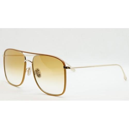 Victoria Beckham Okulary przeciwsłoneczne damskie VB210SL 771 - złoty, musztardowy, filtr V 400