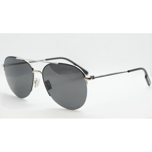 DIOR Okulary przeciwsłoneczne damskie/męskie Dior180 AU- srebrny, czarny, filtr UV 400