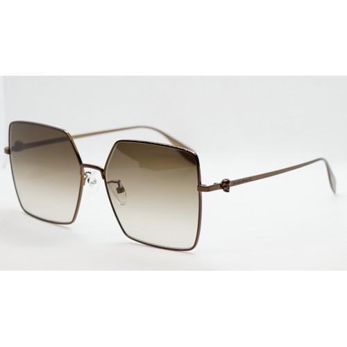 Alexander McQueen Okulary przeciwsłoneczne damskie AM0273S 003 - brązowy, filtr UV 400