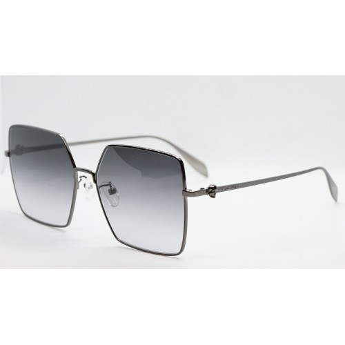 Alexander McQueen Okulary przeciwsłoneczne damskie AM0273S 002 - stalowy, filtr UV 400
