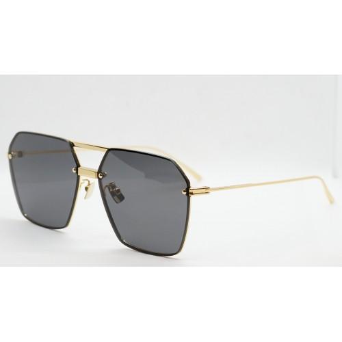 Bottega Veneta Okulary przeciwsłoneczne unisex BV1045S 001 - złoty, czarny, filtr UV400