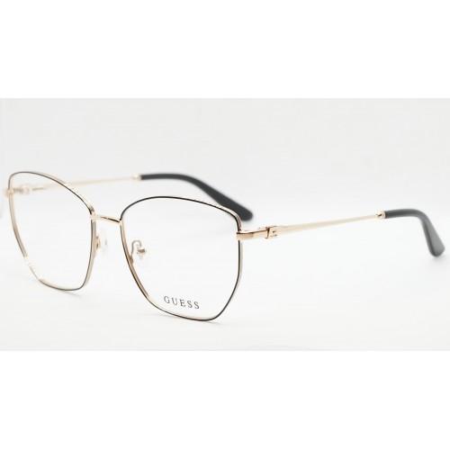 GUESS Oprawa okularowa damska GU2825/V 001 - złoty, czarny