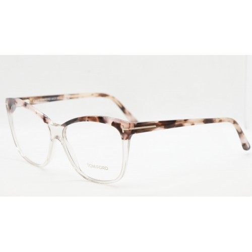 Tom Ford Oprawa okularowa damska FT5512/V 074 - szylkret, transparentny