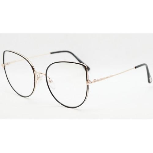 Tom Ford Oprawa okularowa damska TF5614-B 001 - złoty, czarny