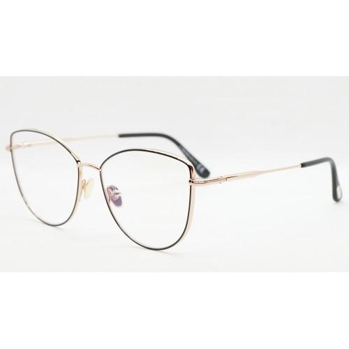 Tom Ford Oprawa okularowa damska TF5667-B 005 - złoty, czarny