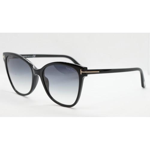 Tom Ford Okulary przeciwsłoneczne damskie Sabrina TF0844/S 01B - czarny, filtr UV 400