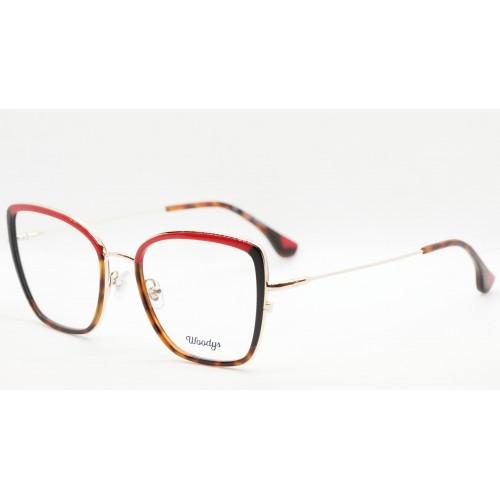 Woodys Oprawa okularowa damska MAKAW 02 - złoty, szylkret, czerwony