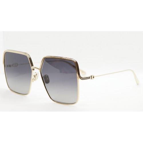 DIOR Okulary przeciwsłoneczne damskie EverDior S1U B0P3 - złoty, czarny, filtr UV400