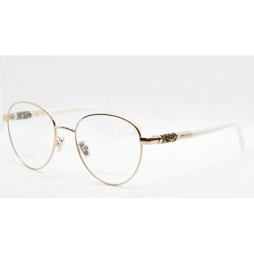 Jimmy Choo Oprawa okularowa damska JC296/G 000 - złoty, biały