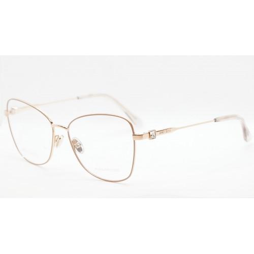 Jimmy Choo Oprawa okularowa damska JC304 PY3 - złoty, różowy