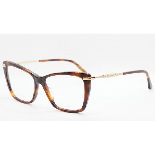 Jimmy Choo Oprawa okularowa damska JC297 086 - szylkret, złoto