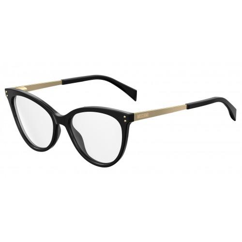 MOSCHINO Oprawa okularowa damska MOS503 807 - czarny, złoty