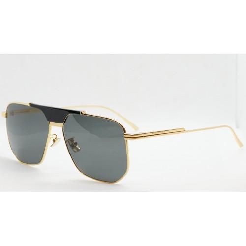 Bottega Veneta Okulary przeciwsłoneczne unisex BV1036S 004 - złoty, czarny, filtr UV400