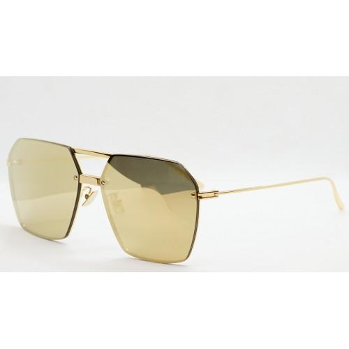 Bottega Veneta Okulary przeciwsłoneczne unisex BV1045S 002 - złoty, filtr UV400