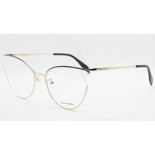 Alexander McQueen Oprawy okularowe damskie AM0256O 001 - złoty