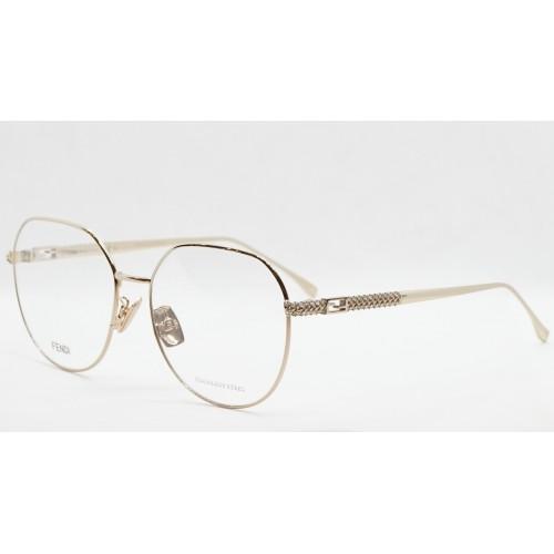 Fendi Oprawa okularowa damska FF0454/F J5G - złoty