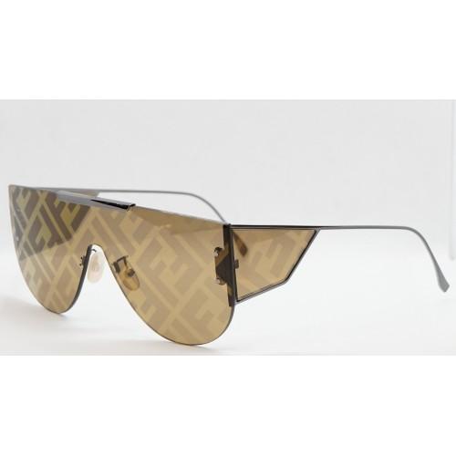 Fendi Okulary przeciwsłoneczne damskie FF M0093 KJ1EB - złoty, filtr UV 400