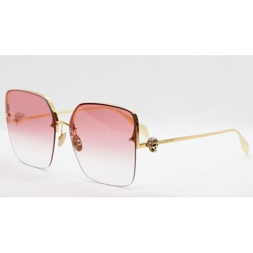 Alexander McQueen Okulary przeciwsłoneczne damskie AM0271S 004 - złoty, filtr UV 400