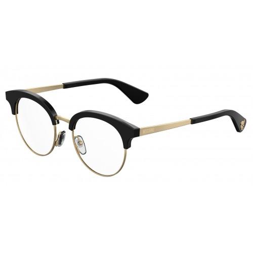 MOSCHINO Oprawa okularowa damska MOS514 807 - czarny, złoty