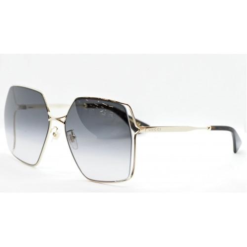 Gucci Okulary przeciwsłoneczne damskie GG0817S 001 - złoty, filtr UV400