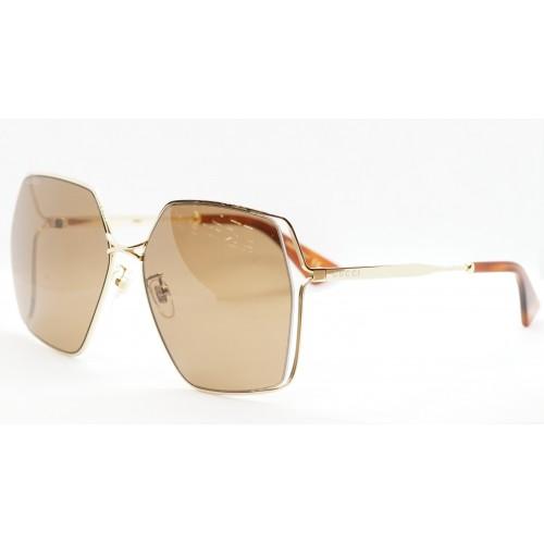 Gucci Okulary przeciwsłoneczne damskie GG0817S 002 - złoty, filtr UV400
