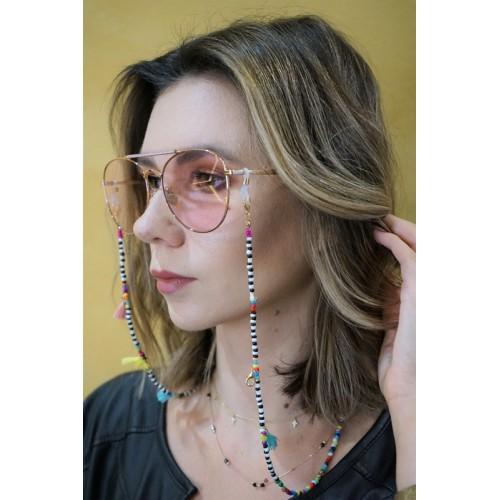 Łańcuszek do okularów - kolorowy/70cm