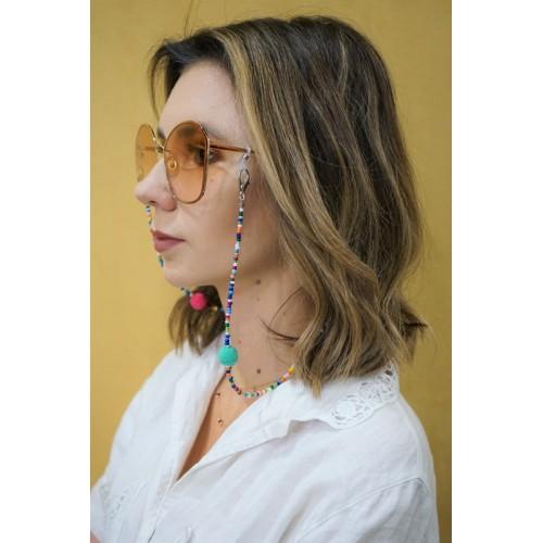 Łańcuszek do okularów - kolorowy /70cm