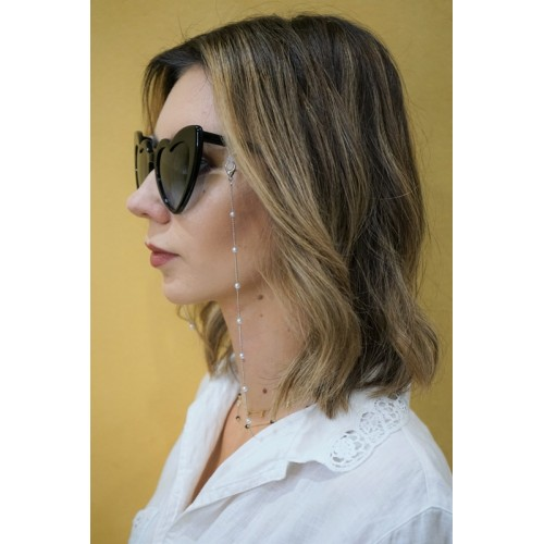 Łańcuszek do okularów - srebrny/ 70cm
