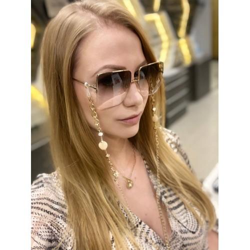 Łańcuszek do okularów - złoty /70cm