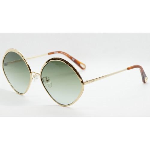 Chloe Okulary przeciwsłoneczne damskie CE168 733 - złoty, zielony, filtr UV 400