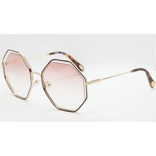 Chloe Okulary przeciwsłoneczne damskie CE132S 211 - złoty, brązowy, filtr UV 400