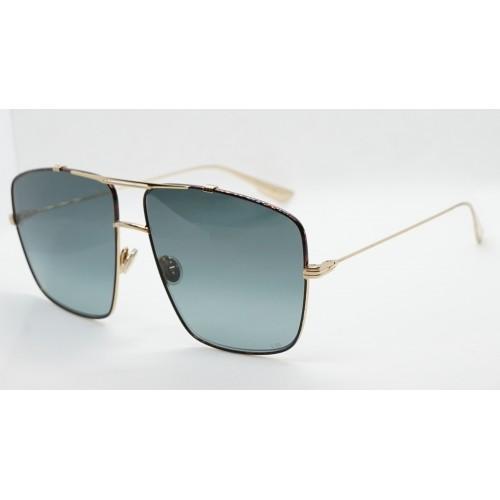 DIOR Okulary przeciwsłoneczne damskie/męskie DiorMonsieur2 XWY1I - złoty, brązowy, filtr UV 400