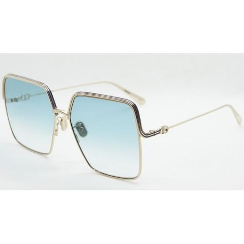 DIOR Okulary przeciwsłoneczne damskie EverDior S1U C0B1 - niebieski, złoty, filtr UV400