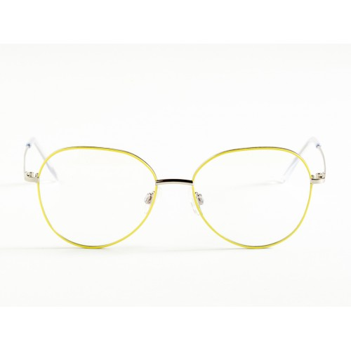 Germano Gambini Oprawa okularowa damska GG115 PLL - srebrny, żółty