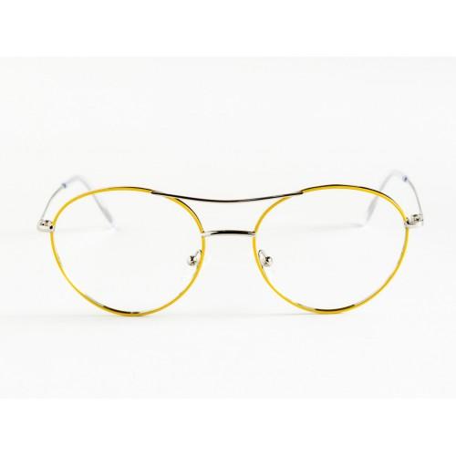 Germano Gambini Okulary korekcyjne damskie GG111 PGI - srebrny, żółty