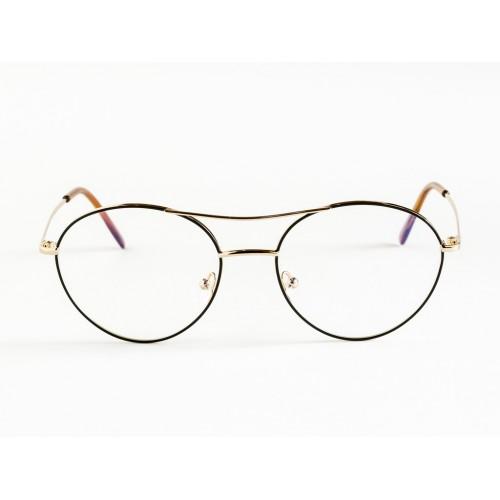 Germano Gambini Oprawa okularowa damska GG111 ONM - czarny, złoty