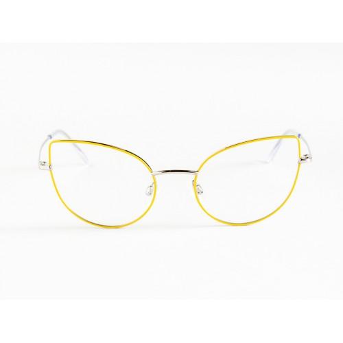 Germano Gambini Oprawa okularowa damska GG110 PGI - srebrny, żółty