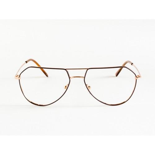 Germano Gambini Okulary korekcyjne damskie GG109 OR1 - czarny, złoty